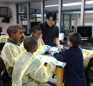 Students and faculty at the College of Medicine participate in several outreach projects.