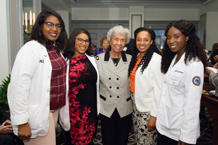 Gloria Twine Chisum with current Woman One Scholars