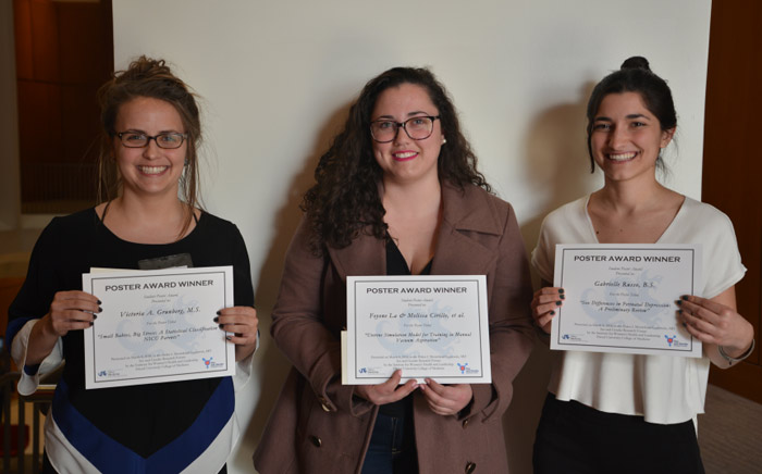 Poster award winners at the 2018 Sex and Gender Research Forum