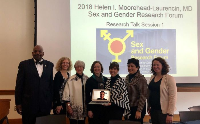 Women in Global Science panelists at the 2018 Sex and Gender Research Forum