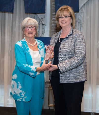 Eileen C. McDonnell, 2019 Woman One Honoree, and Lynn Yeakel