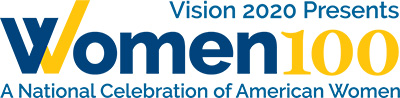 Logo: Vision 2020 Presents Women 100, A National Celebration of American Women