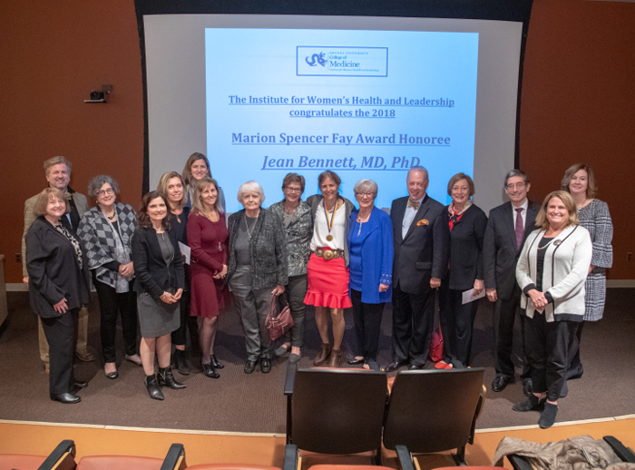Honored faculty, IWHL leaders and Jean Bennett, 2018 Marion Spencer Fay Honoree