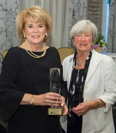 2017 Woman One Honoree Molly Shepard with IWHL Director Lynn Yeakel
