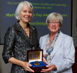 Julie Overbaugh, PhD, 2011 Marion Spencer Fay Award Recipient and Institute Director Lynn Yeakel