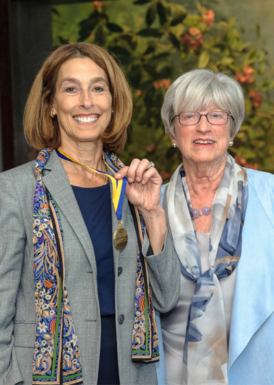 Marion Spencer Fay Award Honoree Laurie H. Glimcher, MD and IWHL Director Lynn Yeakel