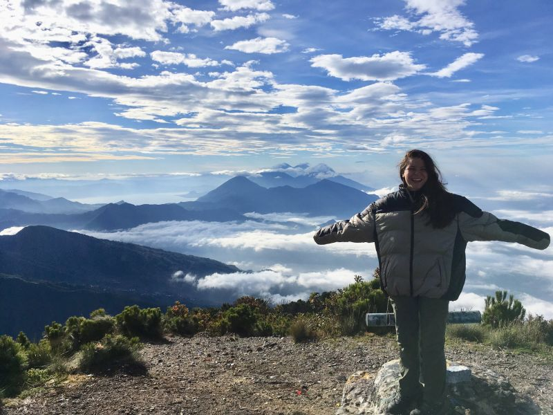 Grace Quinn, Drexel MD student class of 2021, on a global health trip to Guatemala