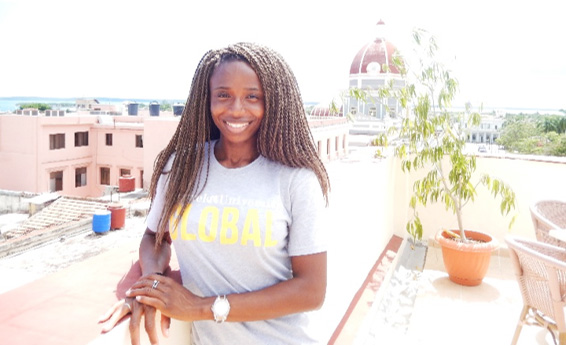 Drexel medical student Yetunde Akinde in Cienfuegos, Cuba.