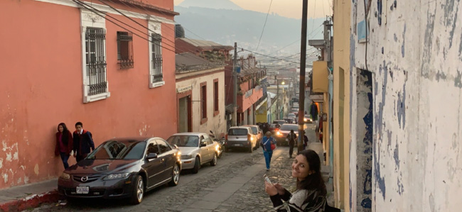 Medical student Ayman Bodair during her Global Health experience with Pop Wuj in Guatemala