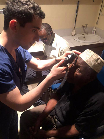 Drexel medical student Alexander Altman in Mombasa, Kenya with The Lighthouse of Christ Hospital-Ophthalmology.