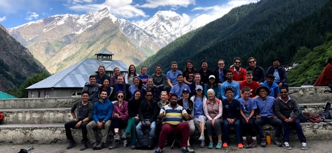 Drexel medical student Ridgley Schultz during his global health experience: group photo