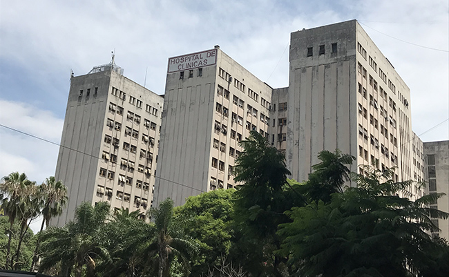 Drexel medical student Sara Shusterman in Buenos Aires: The public hospital building