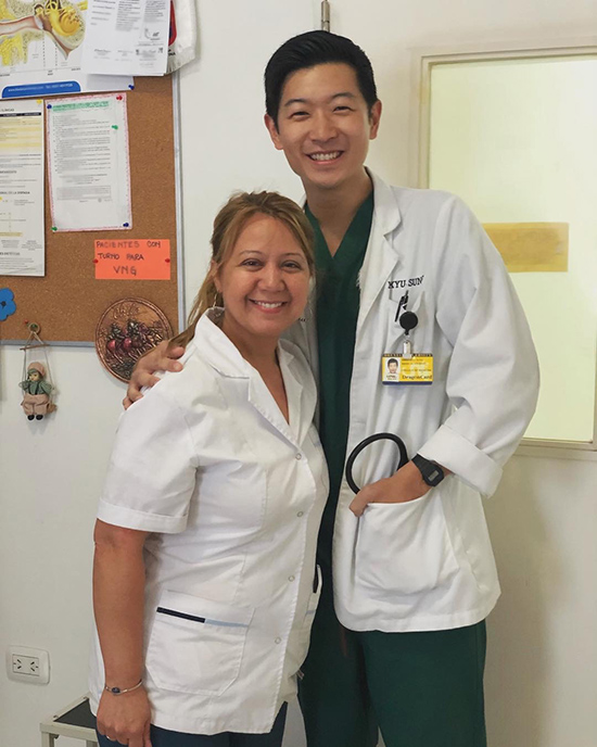 Drexel medical student Yoon Sung in Cordoba, Argentina with Child Family Health International (CFHI).