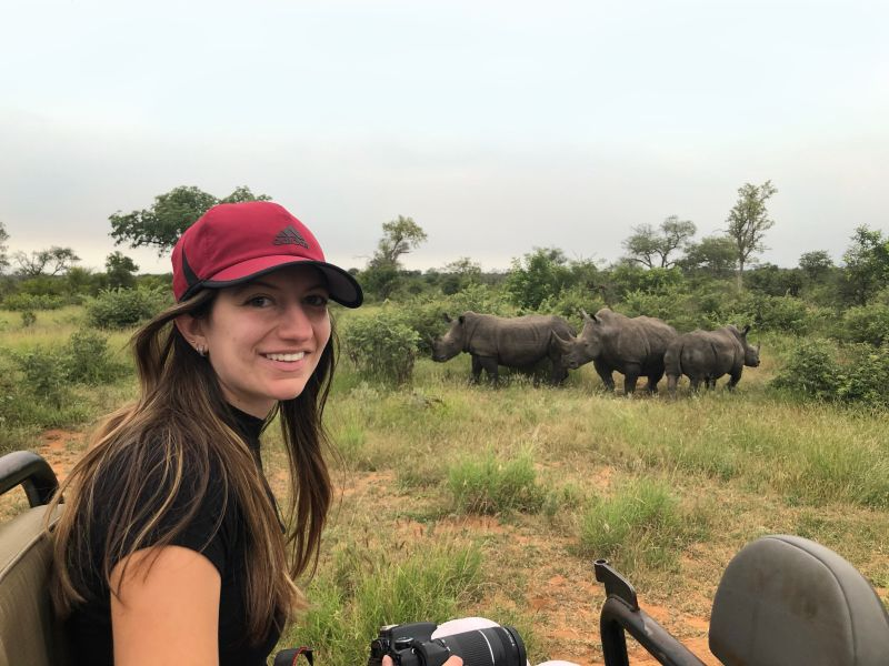 Drexel MD student Rima Dilbarova traveling after her global health experience in South Africa