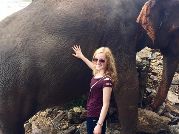 Drexel medical student Kelcie Lushefski in Sri Lanka with Projects Abroad.