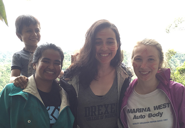 Drexel medical student Hiral Lathia in Ecuador with Child Health Family International.