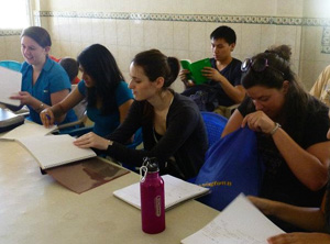 Drexel University College of Medicine student taking language classes to prepare for their global health experience.
