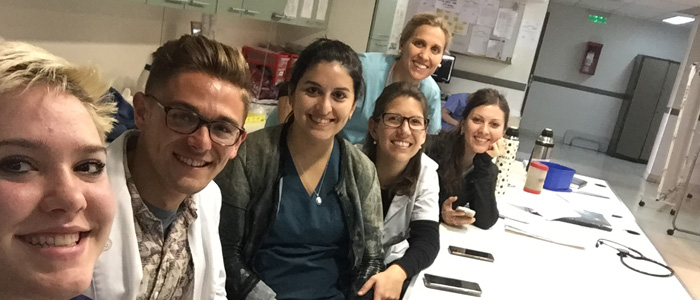 Drexel medical student Blase Kania in Argentina with Child Family Health International.