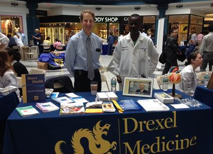 Drexel Cardiology's Dr. Gary Ledley at the Drexel Medicine Health Fair at Liberty Place on September 28, 2016.