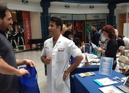 Drexel Gastroenterology's Neilanjan Nandi, MD at the Drexel Medicine Health Fair at Liberty Place on September 28, 2016.