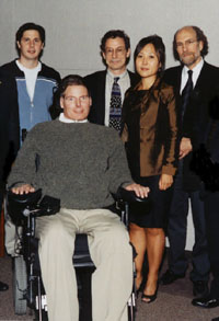 Christopher Reeve with the Spinal Cord Research Center.