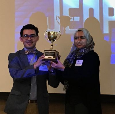 Shaymaa Ashi and Diego Morales at PAP Jeopardy