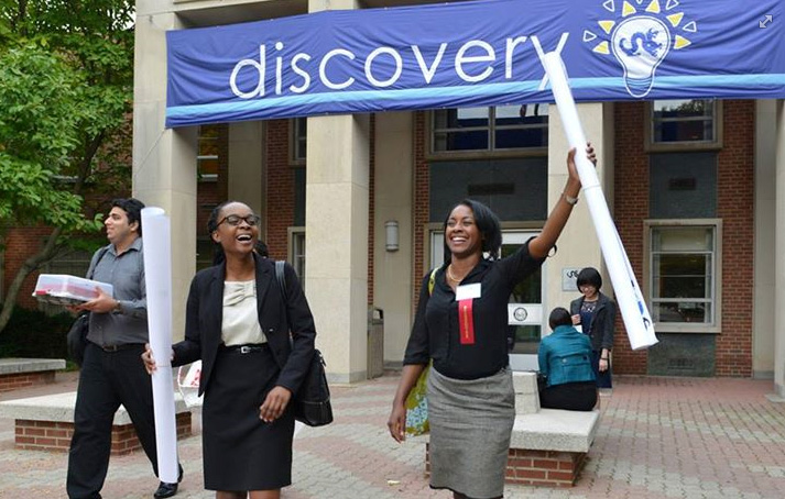 Drexel Discovery Day 2014 poster winner at the Queen Lane Campus.