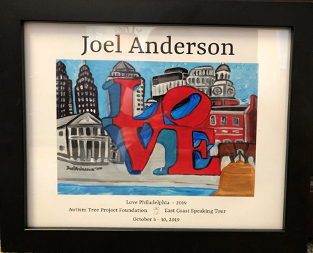 Division of Pre-med and Pre-health programs hosts Joel Anderson, artist and ambassador for the Autism Tree Foundation