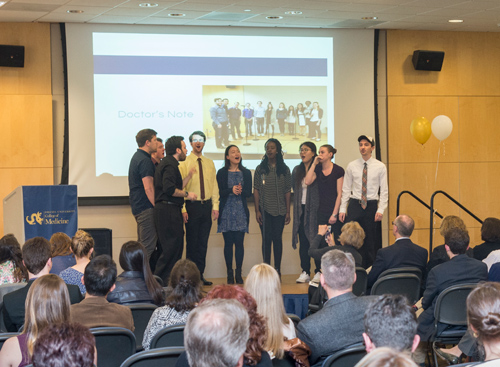 Performance by Doctor's Note, the College of Medicine a cappella group