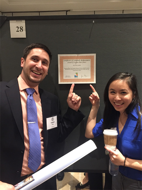 Stephen Rogers and Denise Wang presented the HOP project to the Society of Student Run Free Clinics.