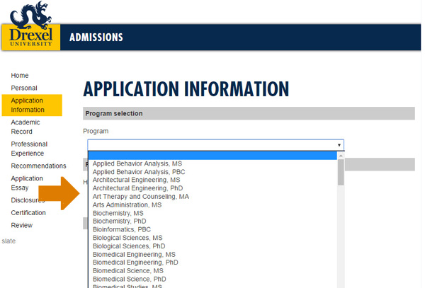 drexel university undergraduate application essay Undergraduate admission applications you are about to leave drexel's  undergraduate admissions website freshman applicants we only accept the.