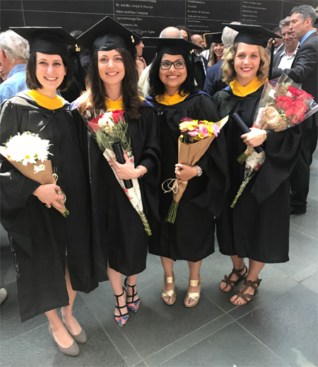 Congratulations to the 2017 graduates of Cancer Biology program, Erica Dalla, Amber Theriault, Dimpi Mukhopadhyay and Kristen Maslar!