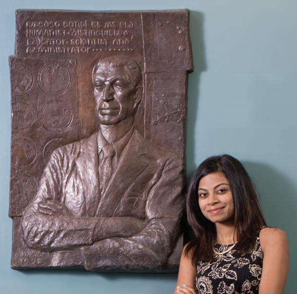 Divya Sagar received the Amedeo Bondi, PhD, Award for excellence in research performance. Its namesake was sculpted in bas-relief by Mark Victor.