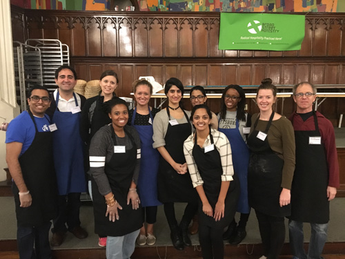 Drexel psychiatry, neurology and internal medicine residents volunteering at the Broad Street Ministry.