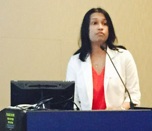 Mitali Patnaik, MD, presenting at the 2nd Annual Addictions Symposium