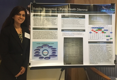 Shahana Ayub with her Colloquium of Scholars poster