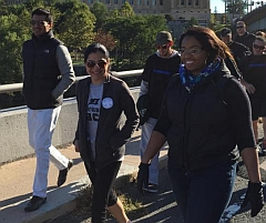 Psychiatry residents participate in Philadelphia suicide prevention walk.