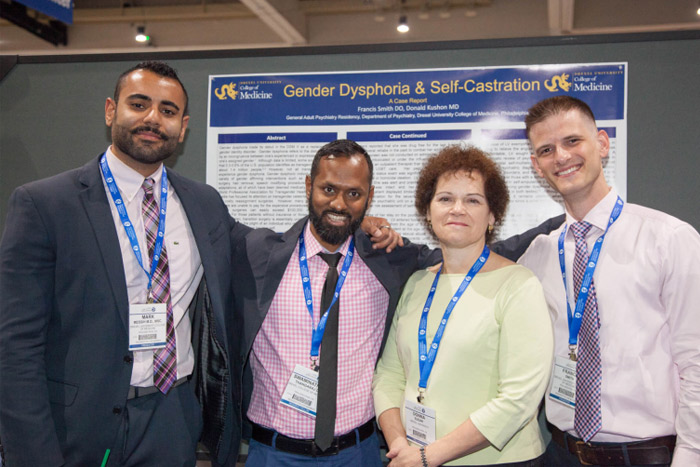 General adult psychiatry residents presenting at recent meetings