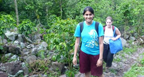 A Drexel University College of Medicine student during her global health education experience abroad.