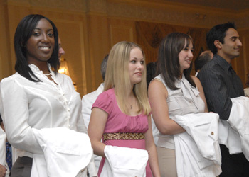 Medical students at the annual White Coat Ceremony.