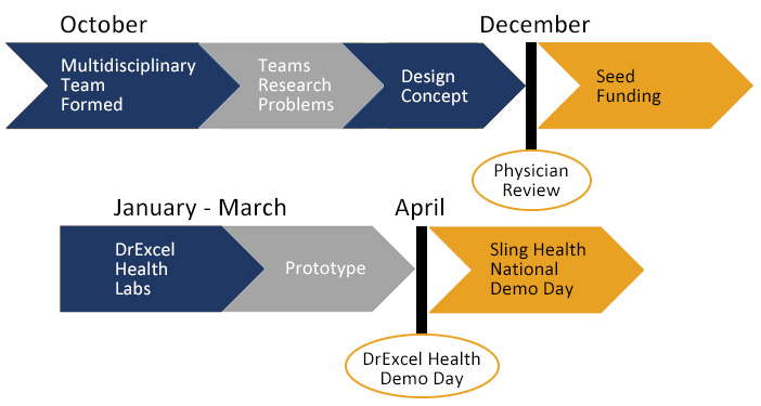 DrExcel Health Project Timeline