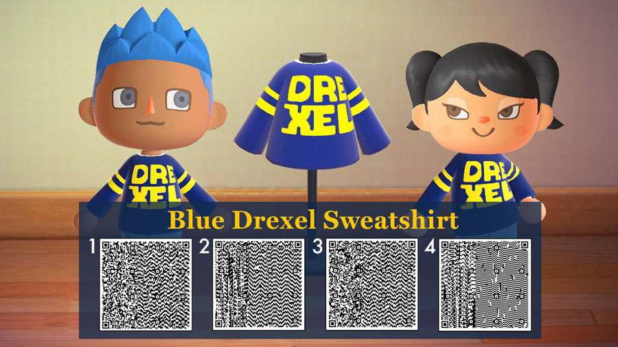 QR code for a blue Drexel sweater.