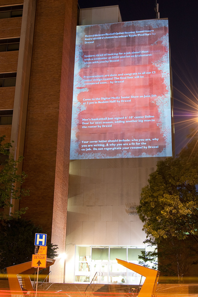 Drexel Students Create Seven Story Tweet