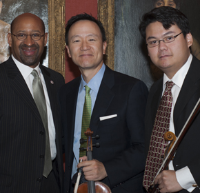 Mayor Nutter and Philadelphia Orchestra Concertmaster ansd Violist