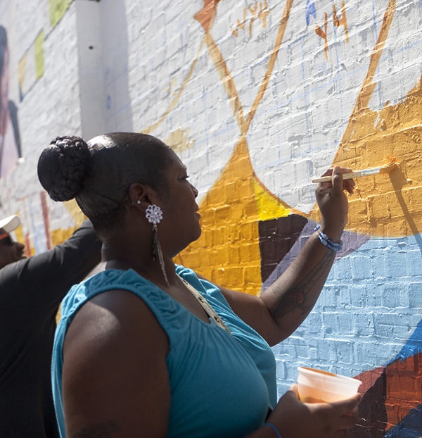 Painting a Healthy City event: Photo from 2012, courtesy of Mural Arts Program. Credit: Steve Weinik