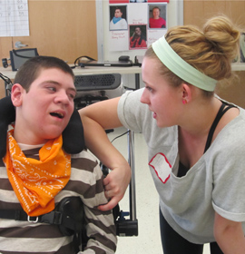 HMS student William Geilfuss (L) and his partner Haley Robinson (R). Photo by Bill Hunter.