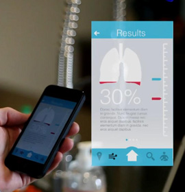 "Osman Cueto's ""BREATHE: The Connected Inhaler"" includes a mobile app for smartphones"