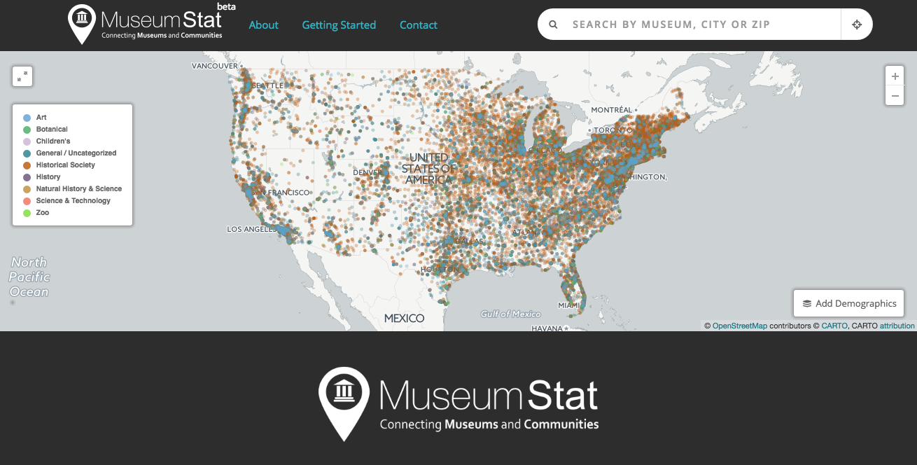 Find Any Museum In America With New MuseumStat Website And App - Number of art museums in usa