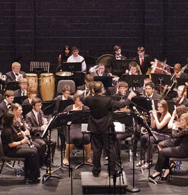 Drexel Concert Band performs at the Kimmel Center