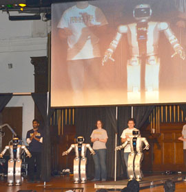 Robot showcase HUBO adult-sized humanoid robots